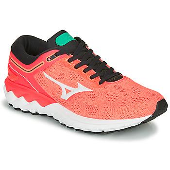 kengät Naiset Juoksukengät / Trail-kengät Mizuno WAVE SKY RISE Corail