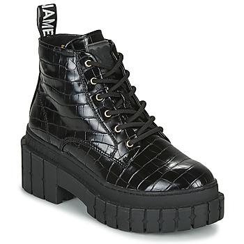 kengät Naiset Bootsit No Name KROSS LOW BOOTS Black