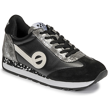 kengät Naiset Matalavartiset tennarit No Name CITY RUN JOGGER Black / White