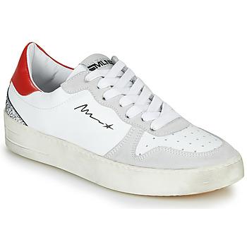 kengät Naiset Matalavartiset tennarit Meline STRA5007 Valkoinen / Punainen