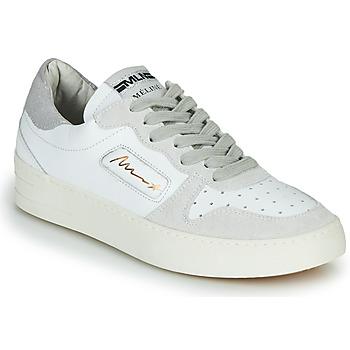 kengät Naiset Matalavartiset tennarit Meline STRA-A-1060 Valkoinen / Beige