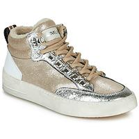kengät Naiset Korkeavartiset tennarit Meline STRA5056 Beige / Kulta