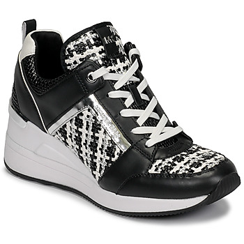 kengät Naiset Matalavartiset tennarit MICHAEL Michael Kors GEORGIE TRAINER Black / White