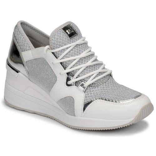kengät Naiset Matalavartiset tennarit MICHAEL Michael Kors LIV TRAINER White / Hopea