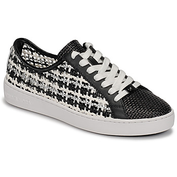 kengät Naiset Matalavartiset tennarit MICHAEL Michael Kors OLIVIA LACE UP Black / White
