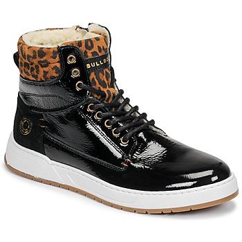 kengät Tytöt Korkeavartiset tennarit Bullboxer AOF503E6L-BLCK Black