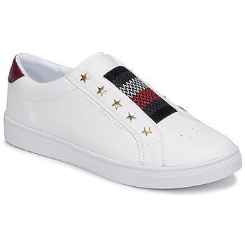 kengät Naiset Matalavartiset tennarit Tommy Hilfiger TOMMY HILFIGER ELASTIC SLIP ON White