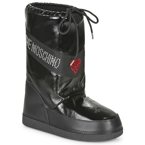 kengät Naiset Talvisaappaat Love Moschino JA24022G1B Musta