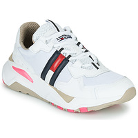 kengät Naiset Matalavartiset tennarit Tommy Jeans WMN TOMMY JEANS COOL RUNNER White / Blue / Red