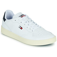 kengät Miehet Matalavartiset tennarit Tommy Jeans TOMMY JEANS ESSENTIAL CUPSOLE White