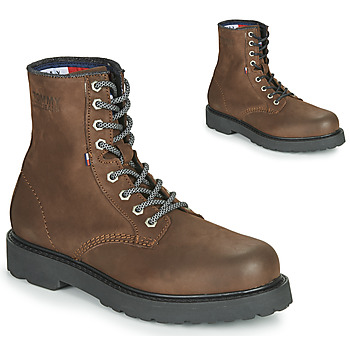 kengät Miehet Bootsit Tommy Jeans NUBUCK WARMLINED LACE UP BOOT Ruskea