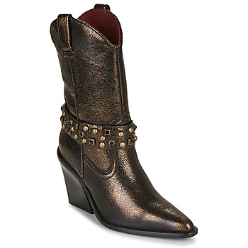 kengät Naiset Nilkkurit Bronx NEW KOLE Black / Kulta