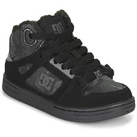 kengät Lapset Korkeavartiset tennarit DC Shoes PURE HIGH-TOP Black / Grey