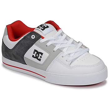 kengät Miehet Matalavartiset tennarit DC Shoes PURE White / Grey / Red