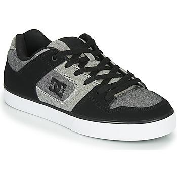 kengät Miehet Matalavartiset tennarit DC Shoes PURE Black / Grey