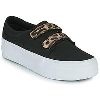 kengät Naiset Korkeavartiset tennarit DC Shoes TRASE PLATEFORM V Musta / Leopardi