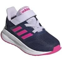 kengät Lapset Juoksukengät / Trail-kengät adidas Originals Runfalcon I Valkoiset, Tummansininen