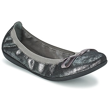 kengät Naiset Balleriinat Les P'tites Bombes ELLA METAL Argenté