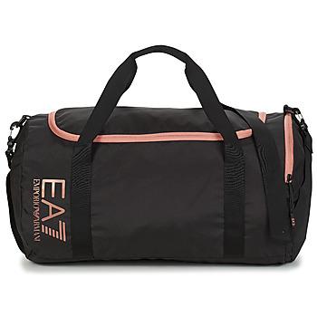 laukut Naiset Urheilulaukut Emporio Armani EA7 TRAIN CORE U GYM BAG SMALL Musta / Vaaleanpunainen