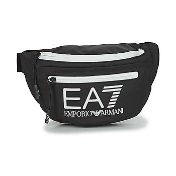 laukut Vyölaukku Emporio Armani EA7 TRAIN CORE U SLING BAG Black / White