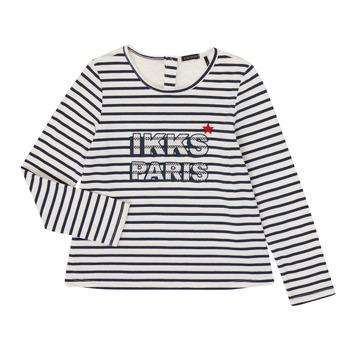 vaatteet Tytöt T-paidat pitkillä hihoilla Ikks XR10052 White