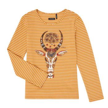 vaatteet Tytöt T-paidat pitkillä hihoilla Ikks XR10102 Ruskea