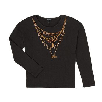 vaatteet Tytöt T-paidat pitkillä hihoilla Ikks XR10122 Black