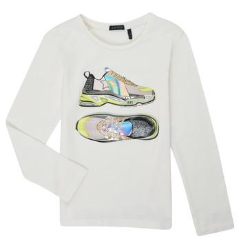 vaatteet Tytöt T-paidat pitkillä hihoilla Ikks XR10172 White