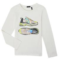 vaatteet Tytöt T-paidat pitkillä hihoilla Ikks XR10172 Valkoinen