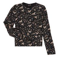 vaatteet Tytöt T-paidat pitkillä hihoilla Ikks XR12052 Musta