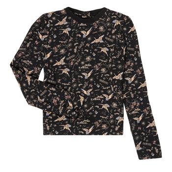 vaatteet Tytöt T-paidat pitkillä hihoilla Ikks XR12052 Black