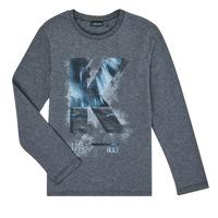 vaatteet Pojat T-paidat pitkillä hihoilla Ikks XR10203 Grey