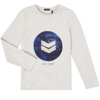 vaatteet Pojat T-paidat pitkillä hihoilla Ikks XR10273 Harmaa