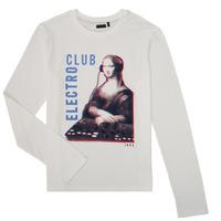 vaatteet Pojat T-paidat pitkillä hihoilla Ikks XR10333 White