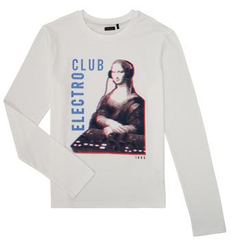 vaatteet Pojat T-paidat pitkillä hihoilla Ikks XR10333 Valkoinen