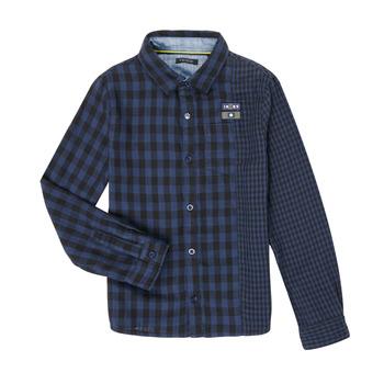 vaatteet Pojat Pitkähihainen paitapusero Ikks XR12123 Sininen