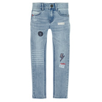vaatteet Pojat Slim-farkut Ikks XR29053 Sininen