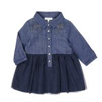 vaatteet Tytöt Lyhyt mekko Ikks XR30150 Sininen