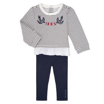 vaatteet Tytöt Kokonaisuus Ikks XR36030 Laivastonsininen / White