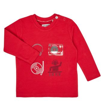 vaatteet Pojat T-paidat pitkillä hihoilla Ikks XR10011 Punainen