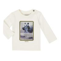 vaatteet Pojat T-paidat pitkillä hihoilla Ikks XR10101 Valkoinen