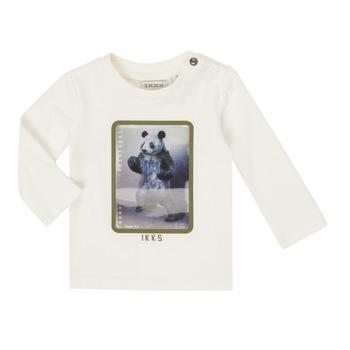 vaatteet Pojat T-paidat pitkillä hihoilla Ikks XR10101 White