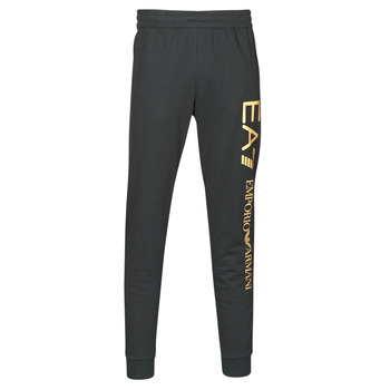 vaatteet Miehet Verryttelyhousut Emporio Armani EA7 TRAIN LOGO SERIES M PANTS Black