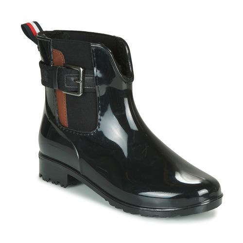 kengät Naiset Kumisaappaat Tom Tailor 92306-NOIR Musta