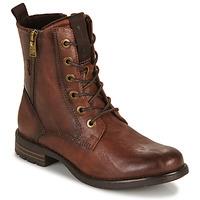 kengät Naiset Bootsit Tom Tailor 93303-COGNAC Cognac