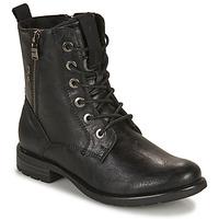 kengät Naiset Bootsit Tom Tailor 93303-NOIR Musta