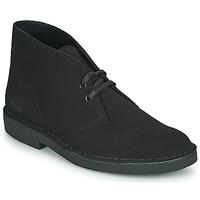 kengät Miehet Bootsit Clarks DESERT BOOT 2 Musta