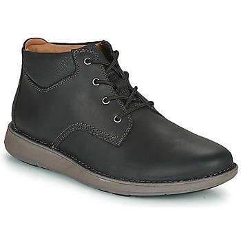 kengät Miehet Derby-kengät Clarks UN LARVIK TOP2 Black