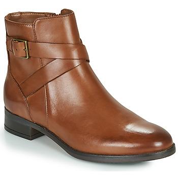 kengät Naiset Bootsit Clarks HAMBLE BUCKLE Brown