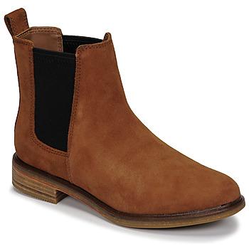 kengät Naiset Bootsit Clarks CLARKDALE ARLO Kamelinruskea
